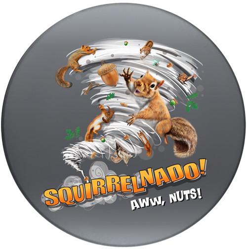 Squirrelnado! Aww Nuts Sandstone Ceramic Coaster   Front
