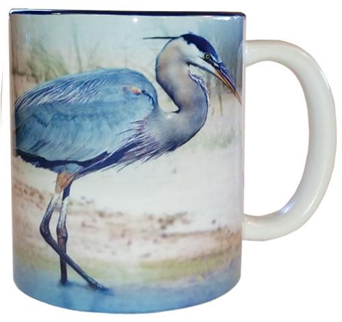 Blue Heron Mug   Jim Rathert Photography   Bird Mug