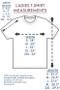 ThinkOutside Ladies T-shirt Size Chart