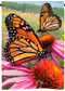 "Monarchs on the Glade | Butterfly Garden Flag | 12"" x 18"" 