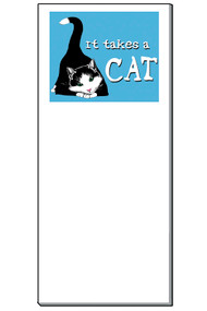 It Takes a Cat Notepad   50 Sheets   Magnetic Shopping List