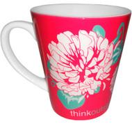 Think Outside Clover Flower Latte Mug   12 oz. ceramic