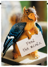 Feed the Birds | Funny Squirrel Outdoor Flag | 2' x 3' | 100% polyester