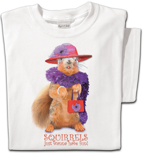 Red Hat Squirrel T-shirt | Funny Squirrel T-shirt