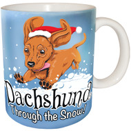 Dachshund Through the Snow Mug | Funny Dog Mug