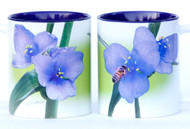 Spiderwort Flower with Honey Bee Mug | Ceramic 11 oz. | Jim Rathert Photography