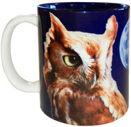 Screech Owl with Moon Mug