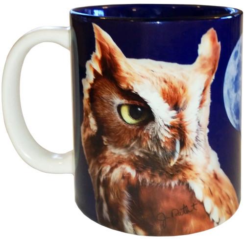 Screech Owl with Moon Mug