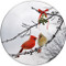 Cardinal Kiss Sandstone Ceramic Coasters | 4pack | Christmas Coasters | Front