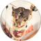 Stocking Stuffer Sandstone Ceramic Coaster | 4pack | Christmas Coasters | Front