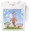 Feed the Flamingo T-shirt   Funny Squirrel T-shirt   White Tee