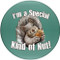 I'm a Special Kind of Nut! Sandstone Ceramic Coasters | 4pack | Front