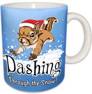 Dashing through the Snow Squirrel Mug