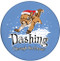 Dashing Through the Snow Squirrel Sandstone Ceramic Coasters | 4pack | Front
