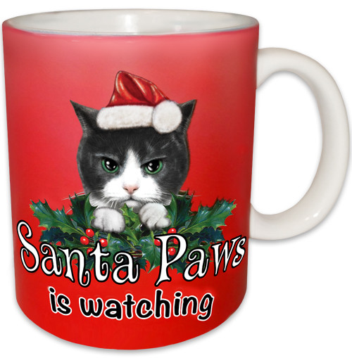 Santa Paws is Watching Ceramic Coffee Mug