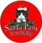 Santa Paws Sandstone Ceramic Coasters | 4pack | Front