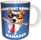 Assistant Branch Manager Corgi Mug | Funny Dog Mug