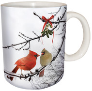 Cardinal Kiss Ceramic Coffee Mug | Christmas Mug