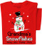 Snowman Red T-Shirt | Personalized Title and Names