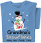 Snowman Blue T-Shirt | Personalized Title and Names