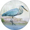 Blue Heron Sandstone Ceramic Coaster | Front