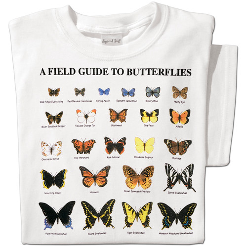 Field Guide to Butterflies T-shirt | Nature Tee