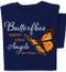 Butterflies appear when Angels are Near T-shirt    Inspirational Butterfly Tee