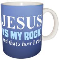 Jesus is my Rock and that's How I Roll Mug | Inspirational Mug