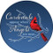 Cardinals appear when Angels are near Sandstone Ceramic Coaster | memorial bird |Front