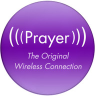 Prayer, the original wireless connection | Inspirational Coaster | Front