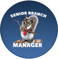 Senior Branch Manager Sandstone Ceramic Coaster | Squirrel Coaster | Front
