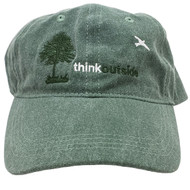 ThinkOutside Tree Hat | Dark Green High Quality Embroidered Cotton Cap | Front