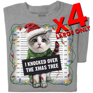 I knocked over the xmas tree T-shirt | x4 Family Pack | SIZE LARGE ONLY