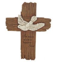 Memorial Cross with Dove