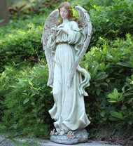 Garden Angel with Bird