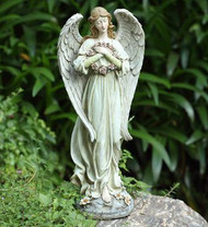 """Angel with Wreath """"May you find comfort in the arms of an angel"""""""