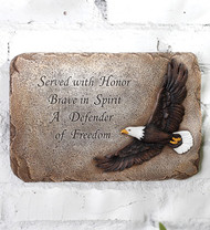 Patriotic Eagle Memorial Plaque