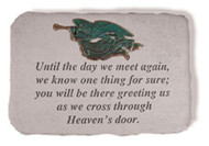 Memorial Garden Stone: Until the day we meet again...w/verde Metal Angel