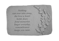 Memorial Garden Stone: Nothing can ever take away...