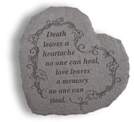 Heart-Shaped Memorial Stone: Death leaves a heartache...