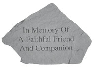 Pet Memorial Stone: In Memory Of...