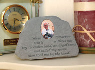 Stone w/ Photo insert : When tomorrow starts...