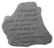 Memorial Stone: Although it's difficult...