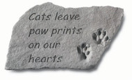 Pet Memorial Stone: Cats leave paw prints on our hearts
