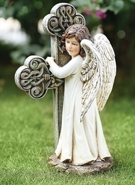 Angel With Cross Memorial Statue