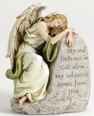 Sleeping Angel Memorial Statue: My soul finds rest...