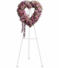 Rose Garden Heart-Shaped Wreath