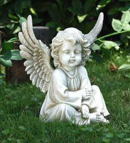 Sitting Angel Garden Statue