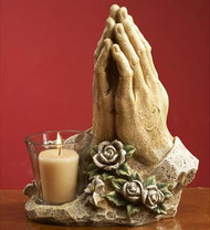 Praying Hands Candleholder