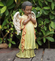 Praying Black Angel Figurine